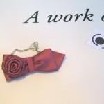 Papillon-Cravatta/collana fiore brevetto